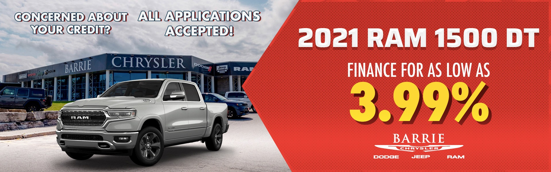 2021 RAM 1500 DT Finance For As Low As 3.99%